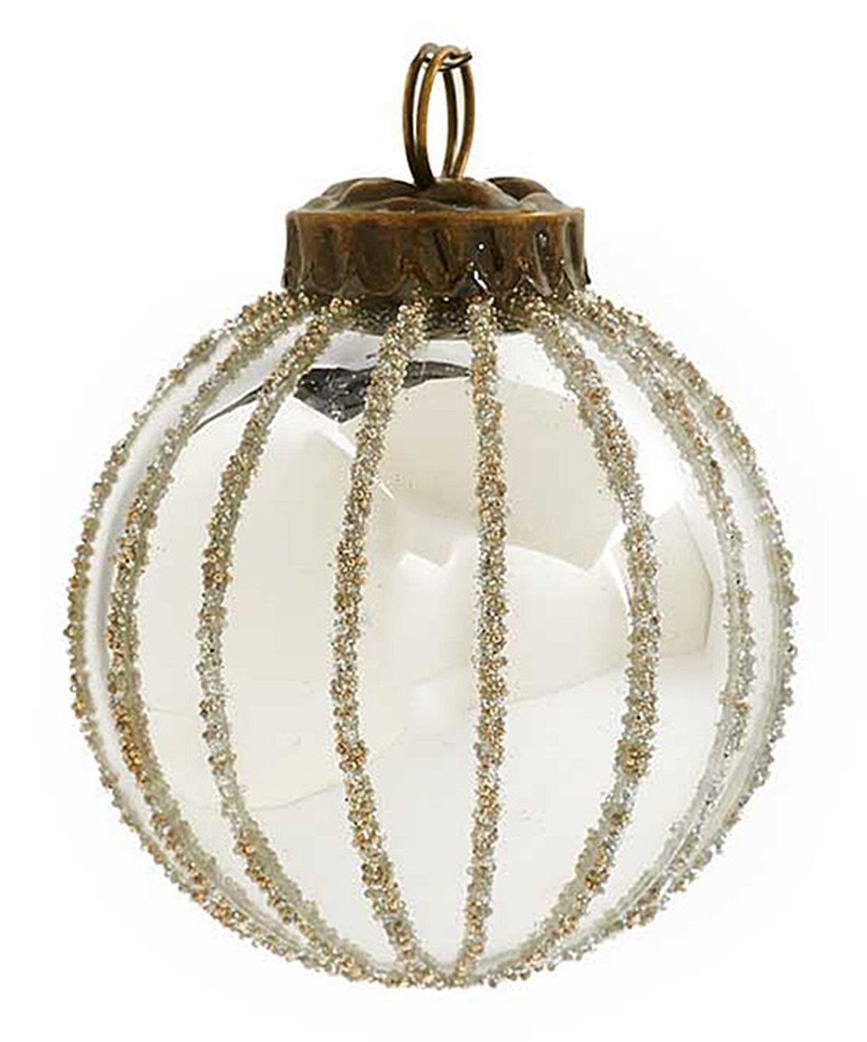 Ku0026K Interiors Ribbed Silver Ball Ornament By #