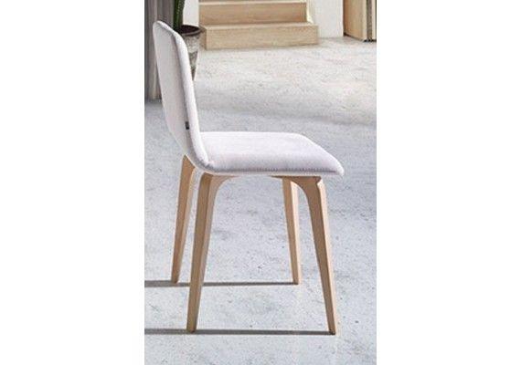 Elegante silla de cocina y comedor con asiento tapizado y ...