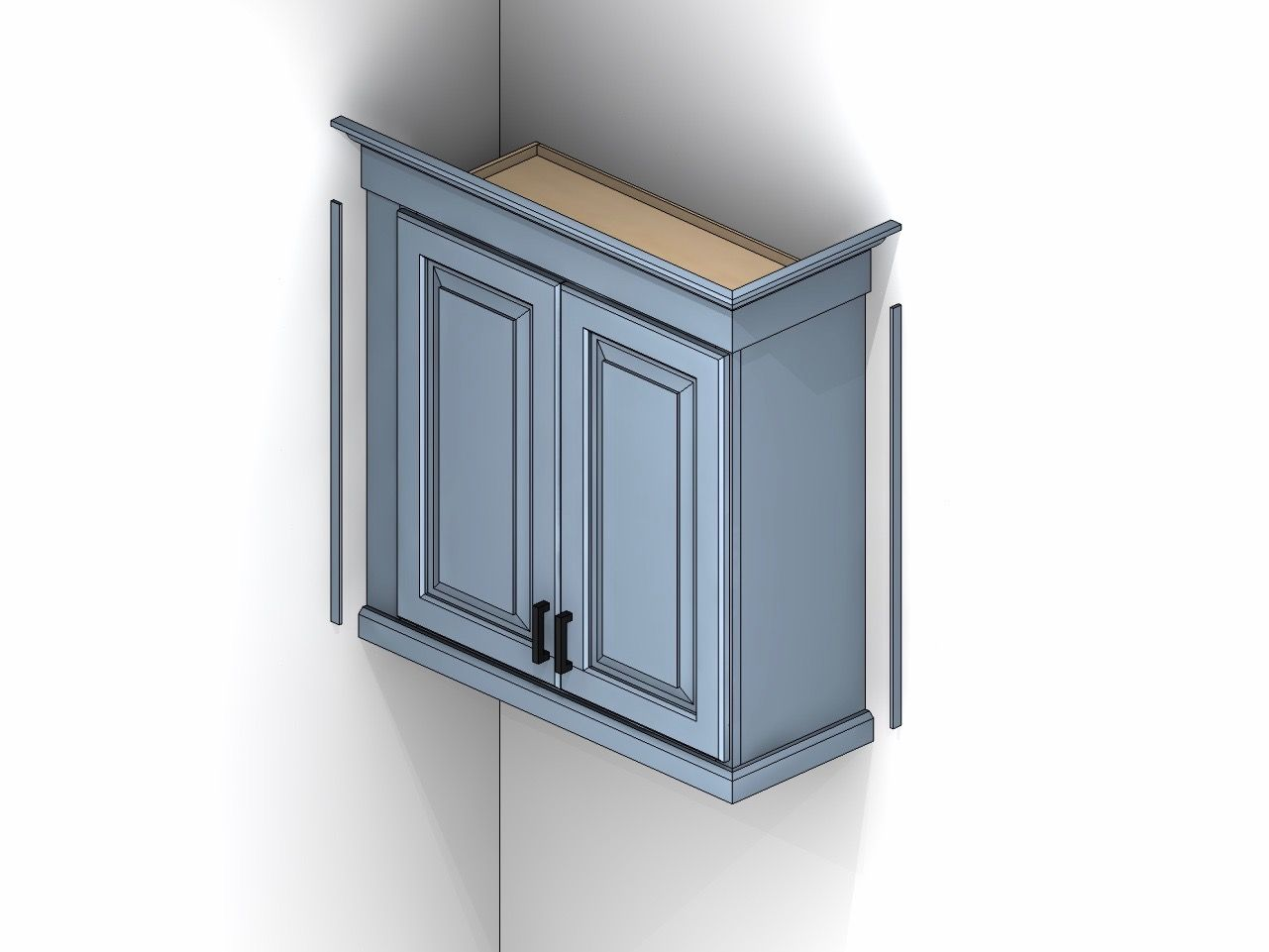 Cabinet Illustration Showing Scribe Molding Kitchen Cabinet Molding Diy Molding Cabinet Molding