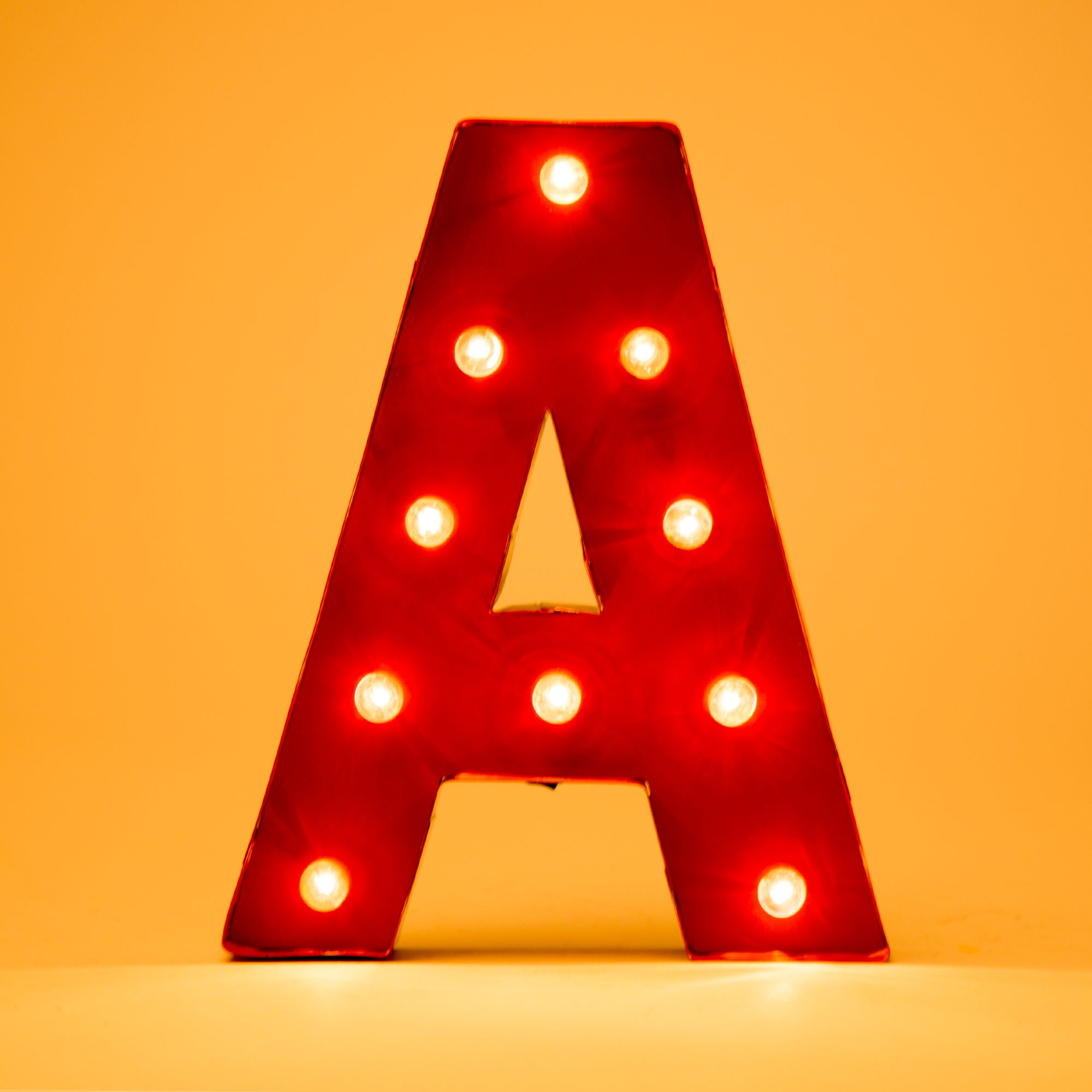 Spell Out Your Favorite Words By Glitzhome Vintage Marquee Led Lighted Letter A Sign Battery Operated Red Comes In Variety Of Letters