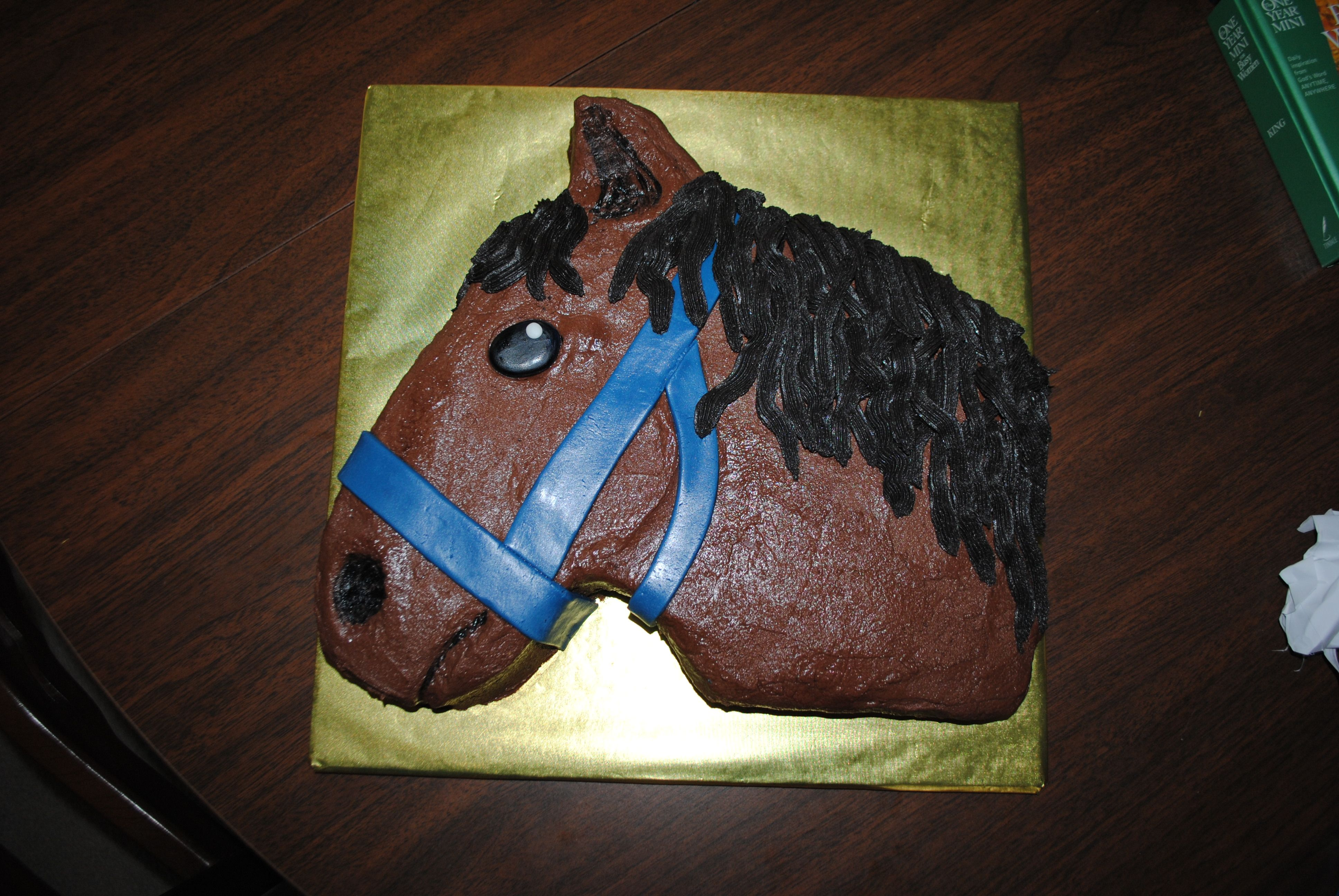 Horse for my little rider used trader joes cake and