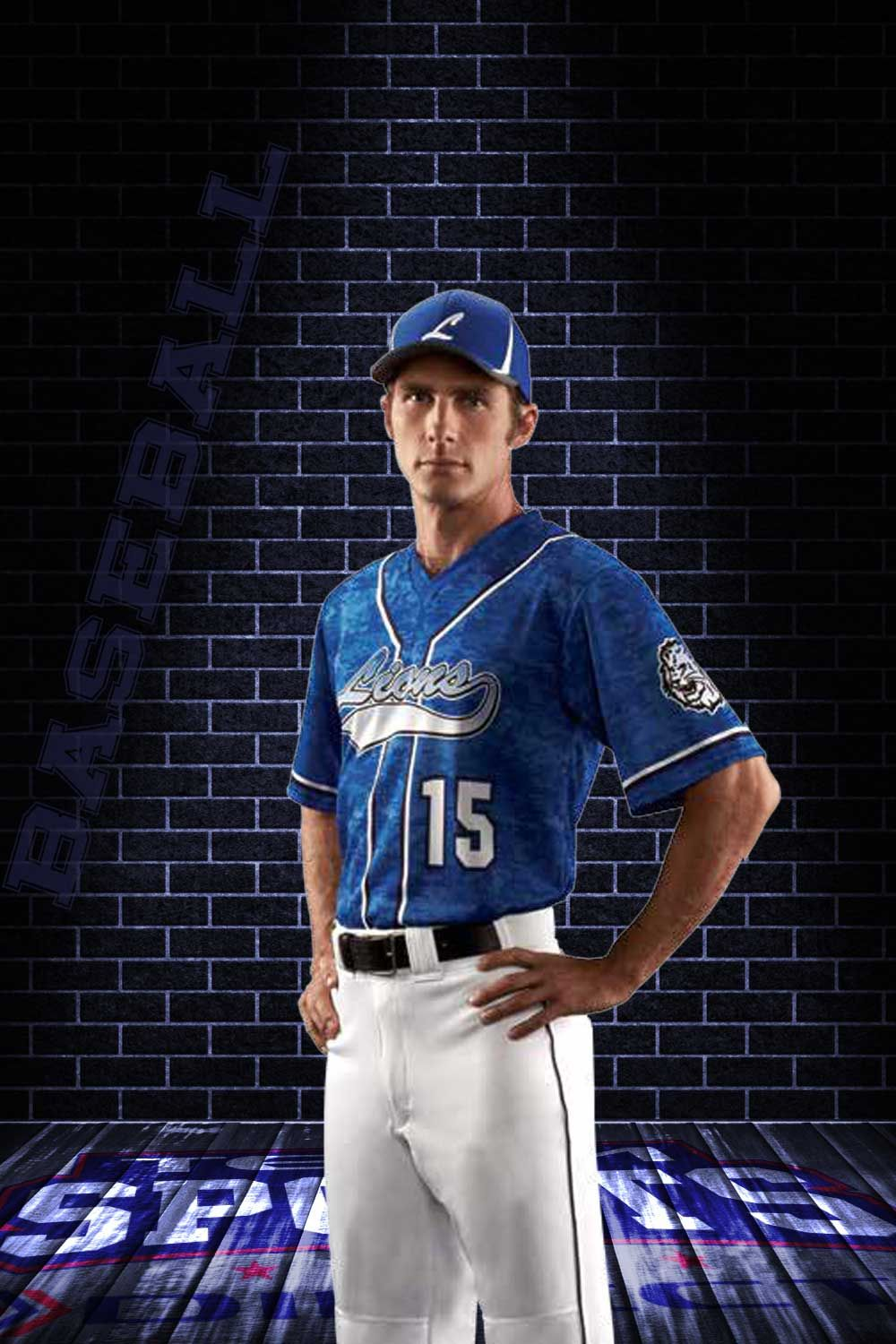 The Strike Zone baseball jersey design features Digital