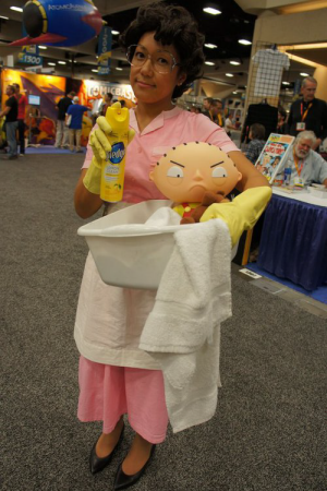 consuela from family guy holding stewie costume idea funny halloween costume ideas for women - Funny Halloween Costume Ideas Women
