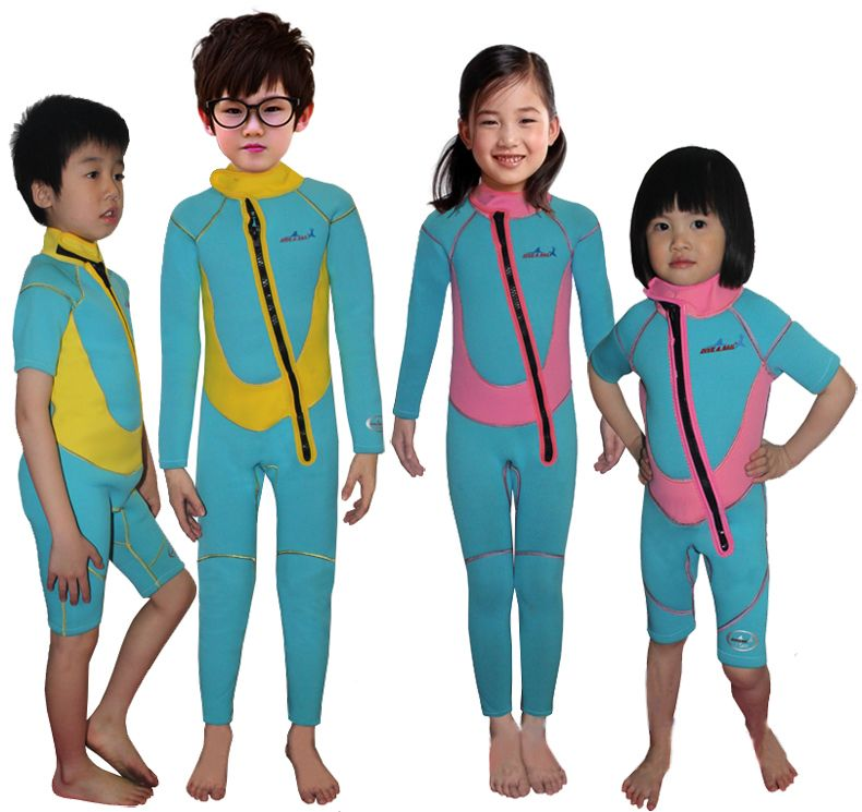e8b5c53eb8 2.5mm children diving suit thermal swimwear kids cold-proof  long-sleeve/short-sleeve sunscreen incubation aureateness wetsuit $39.83 -  44.83