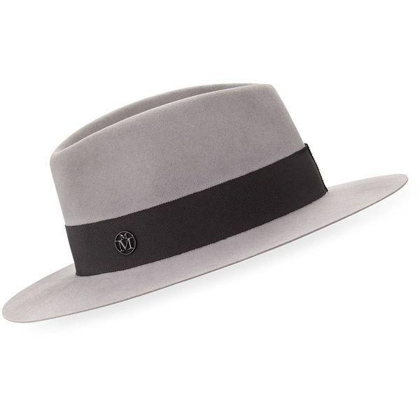 711968910 Maison Michel Andre Felt Classic Fedora Hat (2,565 MYR) ❤ liked on ...
