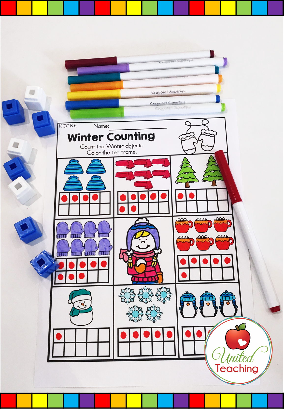 Winter Math Worksheets Kindergarten