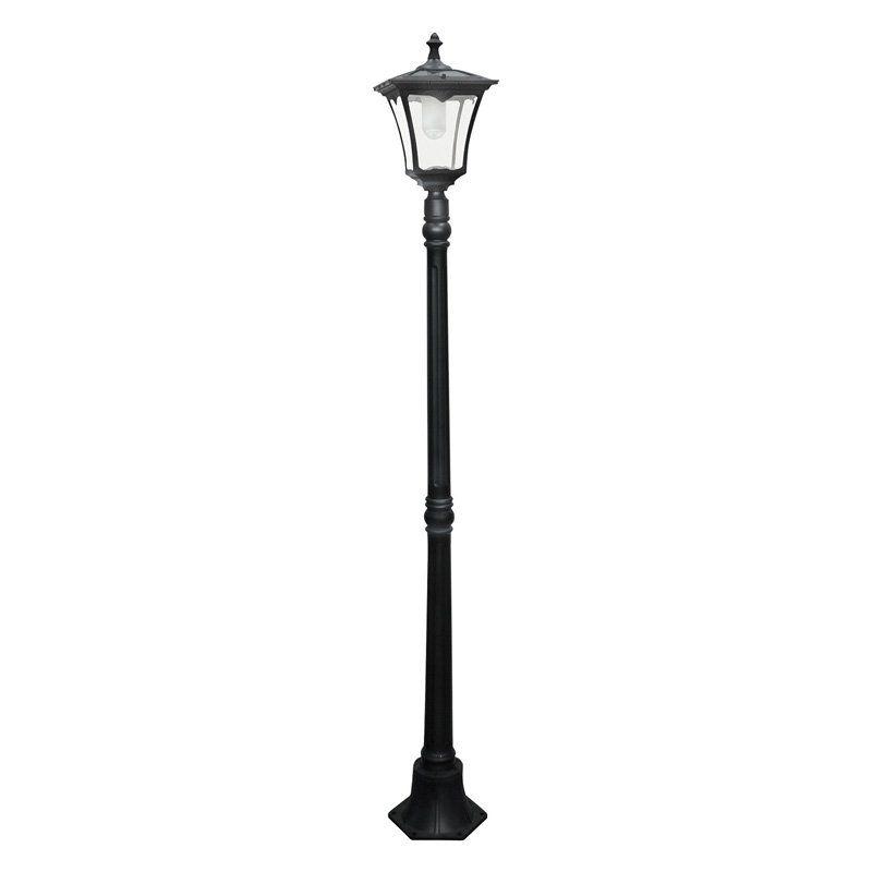 Paradise Garden Lighting Solar Cast Aluminum Street Light Gl23716bk Durable