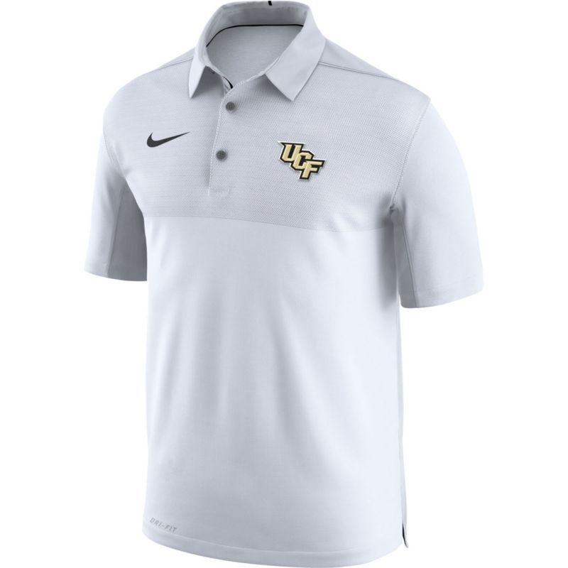 4441ea8d Nike Men's UCF Knights Elite Football Sideline White Polo, Size: Large, Team