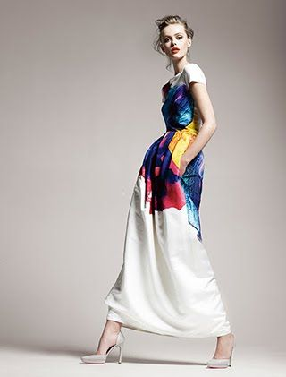 Jil Sander dress from S/S 2011 via East Side Bride - I really love this concept for the colors.
