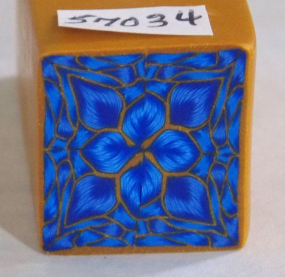 """polymer clay cane, raw, square   # 57034    7/8"""" x 7/8"""" x 1 5/8"""" long"""