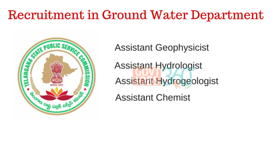 TSPSC Ground Water Department Recruitment 2016 Various Posts