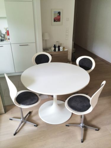 Ikea Ps Tisch Tulpenform Wie Saarinen Tulip 4 Stühle Original