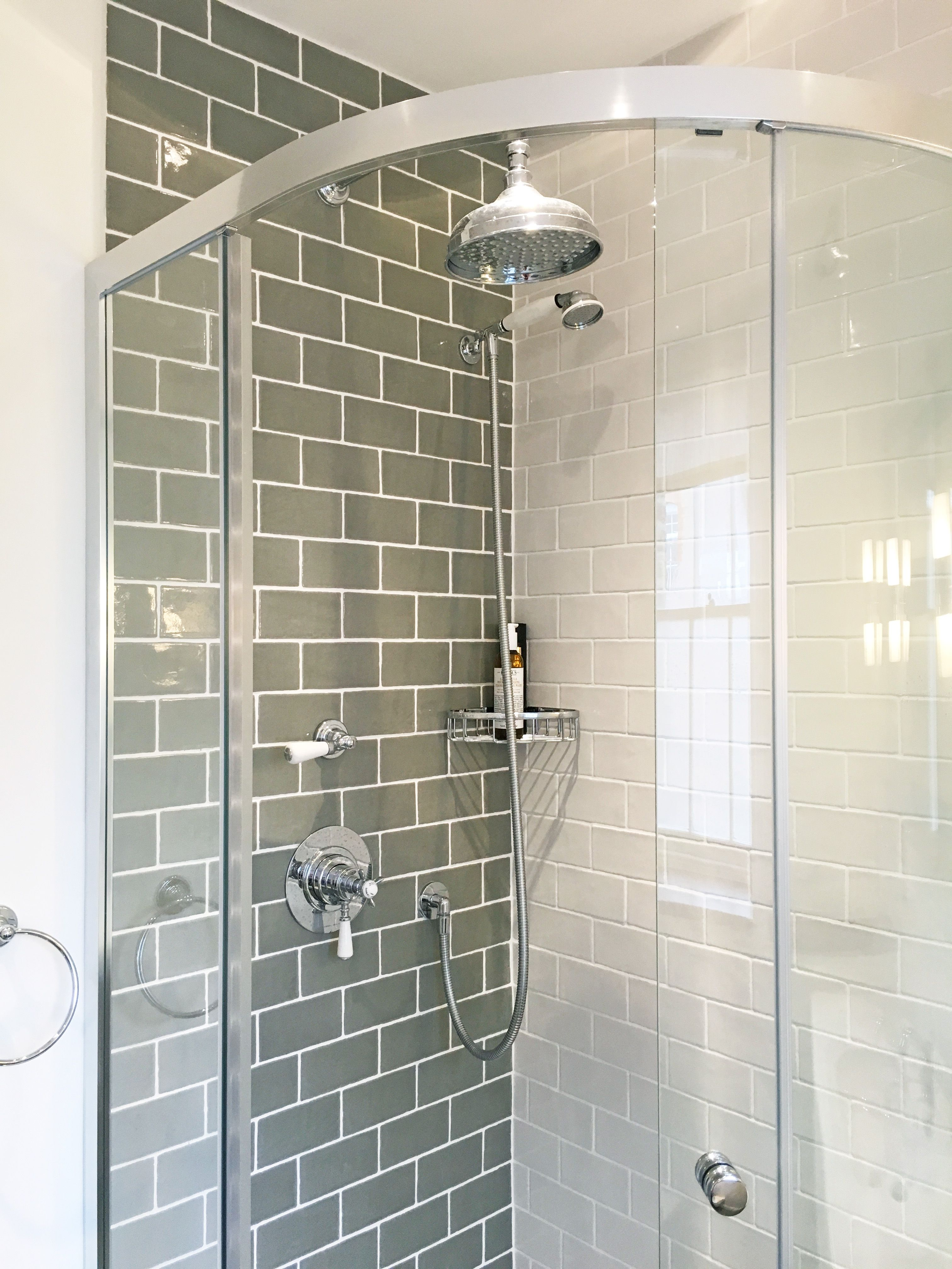 Apm Finished Shower Enclosure With Lovely Fired Earth Metro Tiles