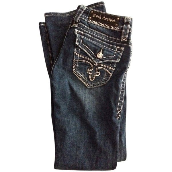 Pre-owned Rock Revival Boot Cut Jeans ($100) ❤ liked on Polyvore