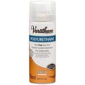 Varathane 11 Oz Poly Satin Spray Paint 266238 The Home Depot Spray Painting Wood Furniture Varathane Gloss Spray Paint