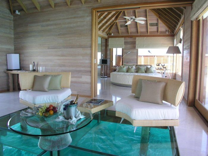 "beach"" house w/ glass floor ""carpet"" over water - adorablelife | Modern  house design, Modern houses interior, House design"