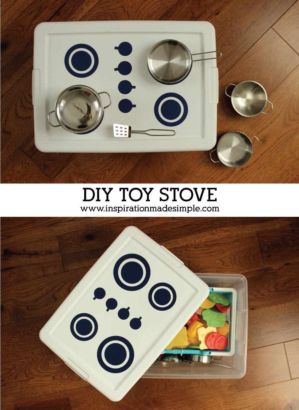 Diy Play Tote Stove In
