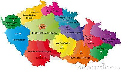 Repblica Checa mapa  1 ECzech Republic  Pinterest  Czech