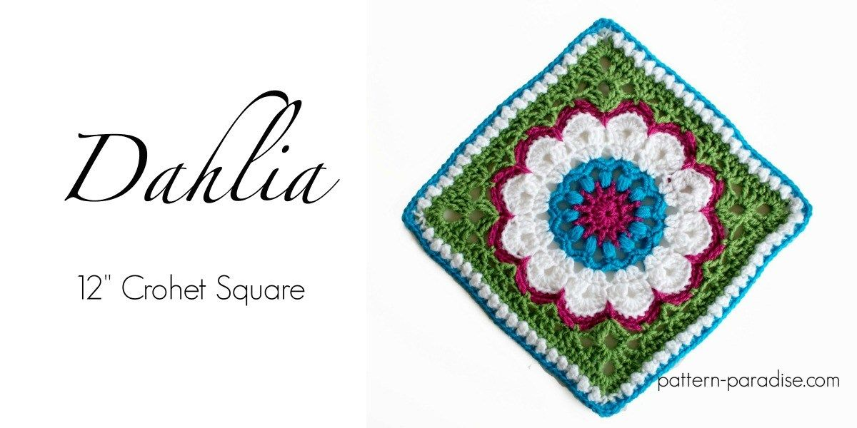 Free Crochet Pattern: Dahlia Afghan Square | crochet | Pinterest