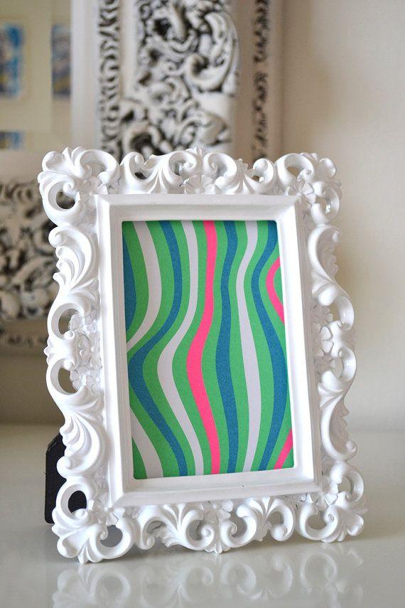 White Baroque Frame, Ornate White frame, White 4x6 frame, rustic ...
