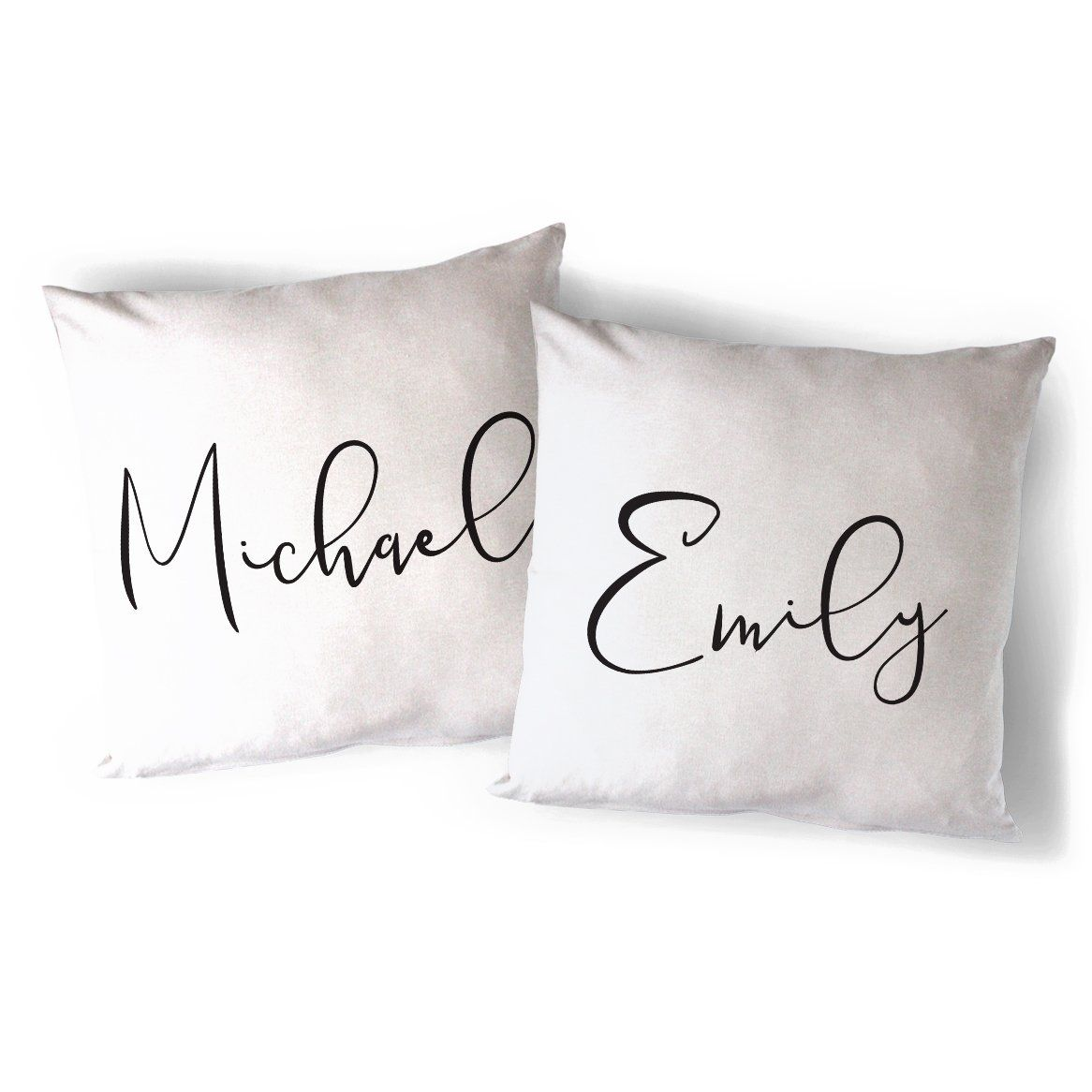 Personalized Couple Names Pillow Cover 2-Pack - Default Title