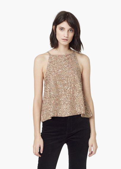 imágenes detalladas seleccione original gran descuento Top lentejuelas | MANGO | Fashion | Blusas bonitas, Blusas ...