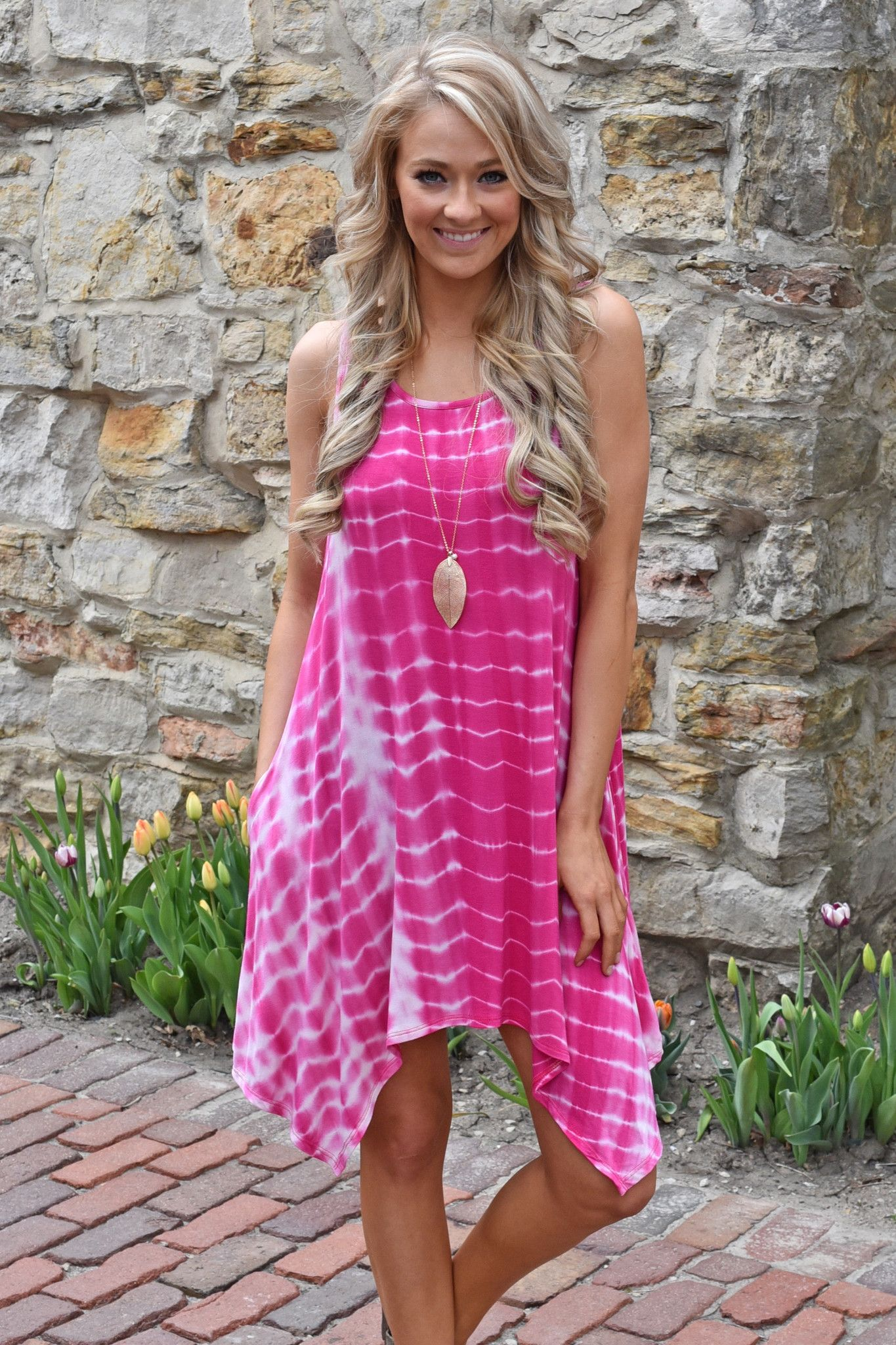 Tie Dye For Dress ~ Pink