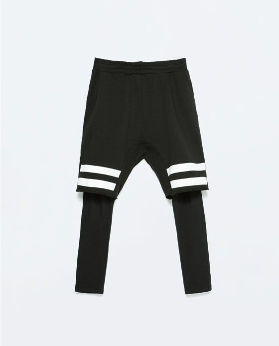 4f02aa6de6cef ZARA - MAN - STRIPED SHORTS WITH LEGGINGS | blurryface shorts ...