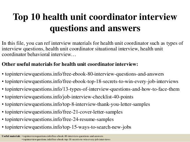 health unit coordinator duties health Pinterest - health unit coordinator resume