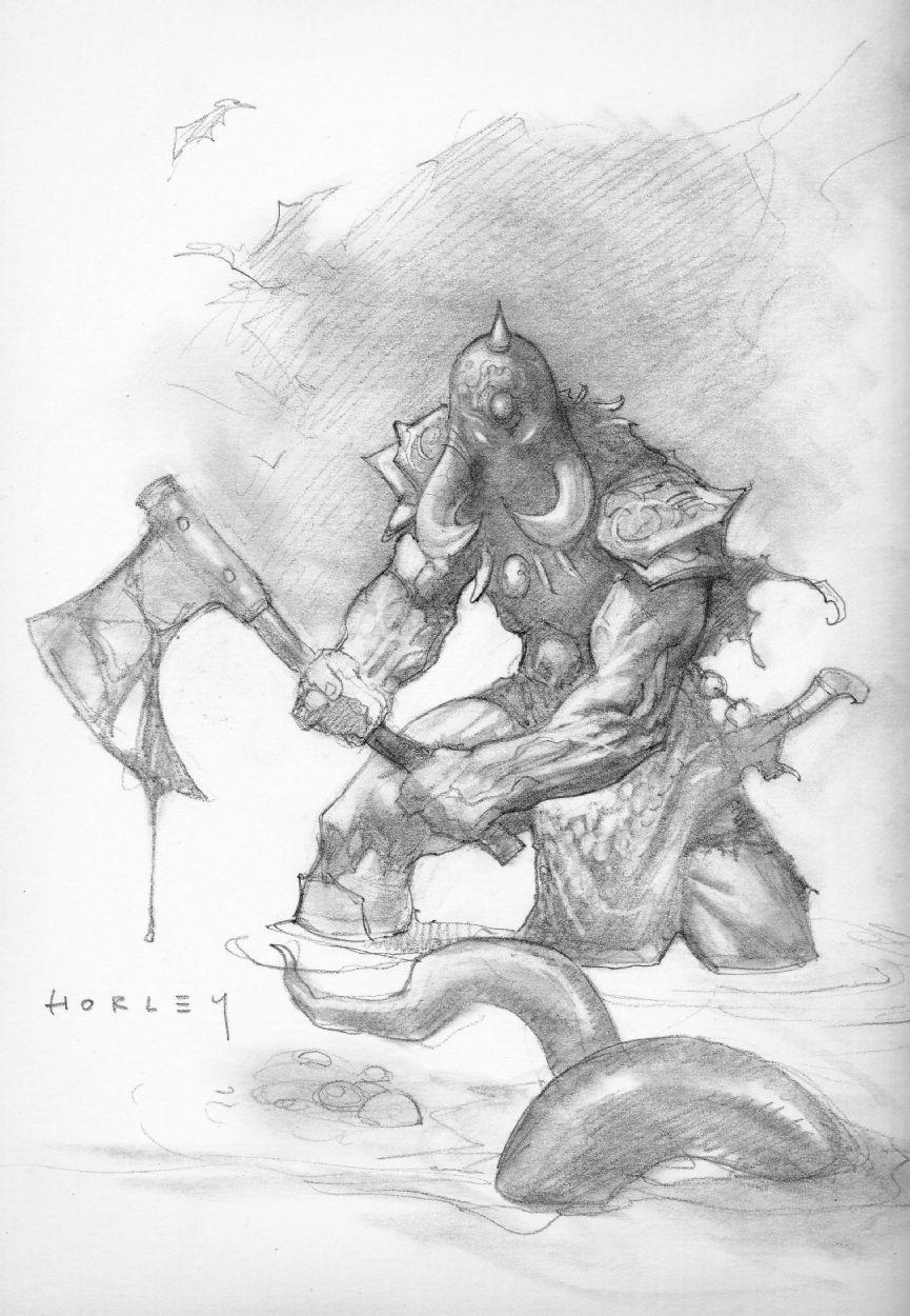 Horley - Death Dealer 2 Comic Art