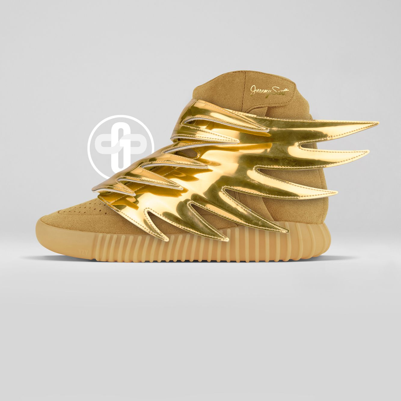 4cb5fe540aad Jeremy Scott x Adidas Yeezy Boost 750 Gold Wings