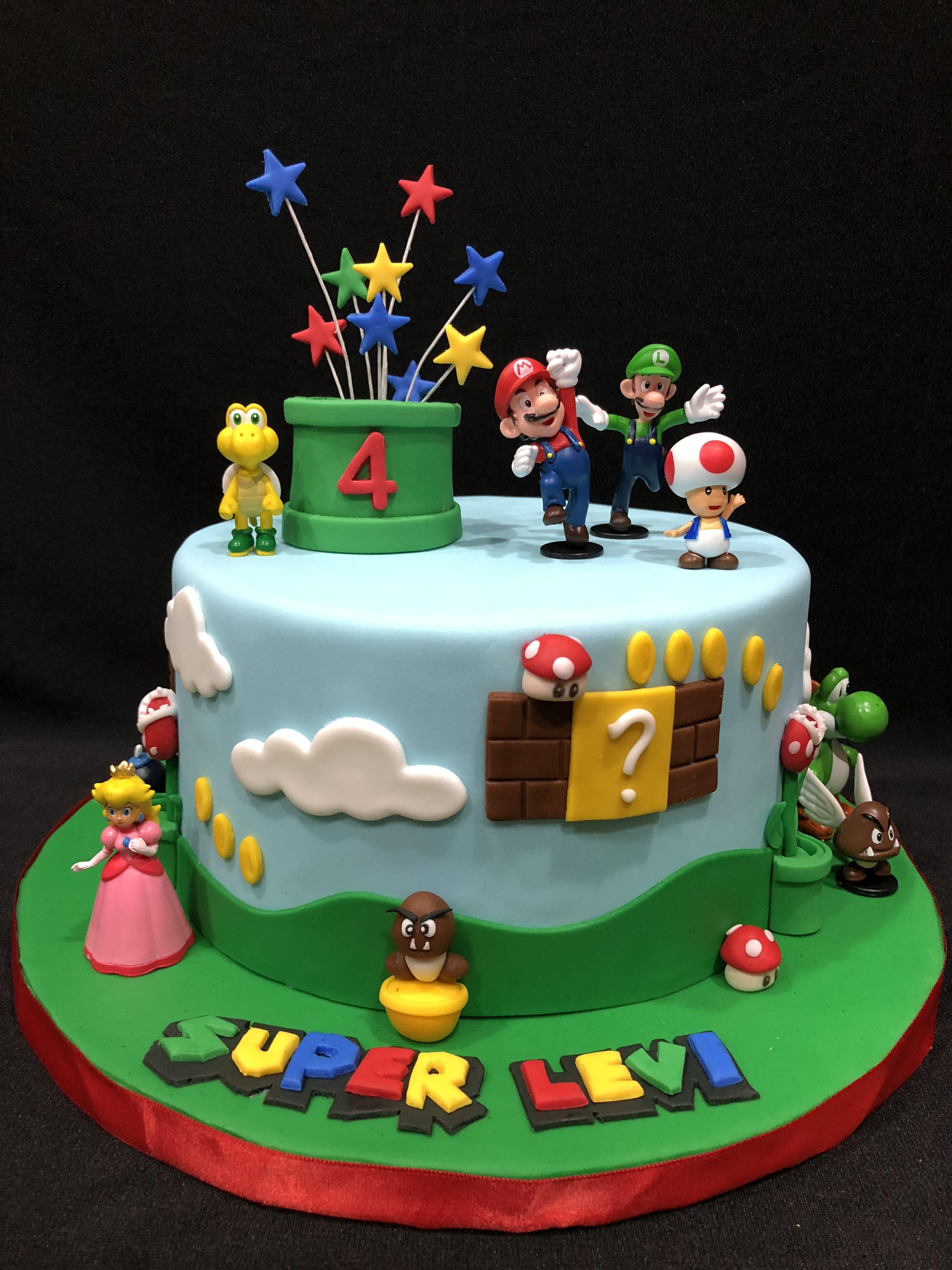 Super Mario Brothers Birthday Cake With Images Mario Birthday