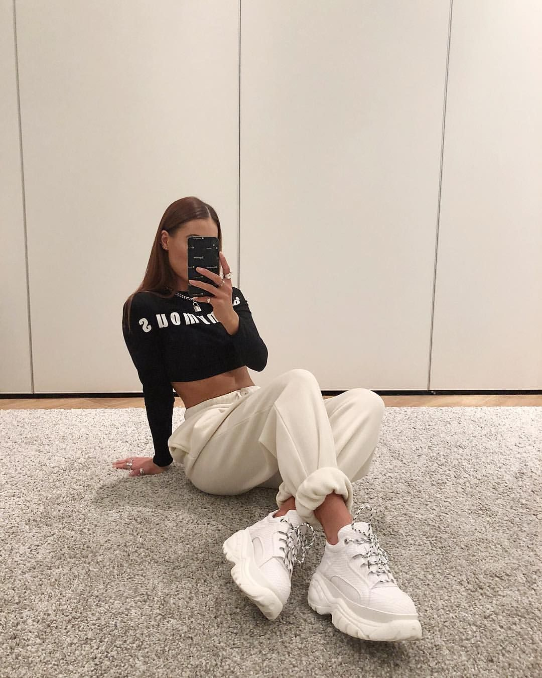 Sporty outfit with Fila disruptor