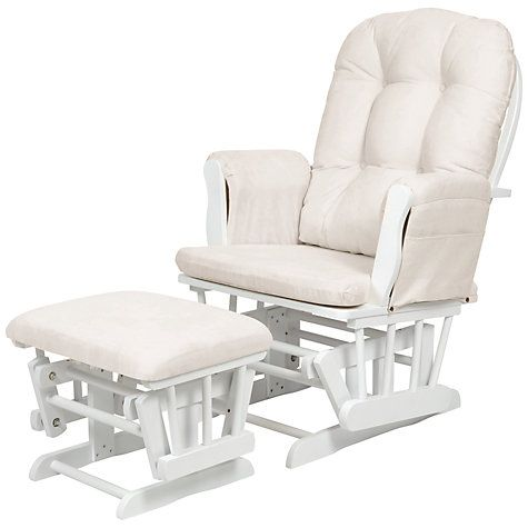 Kub Haywood Glider Nursing Chair And Footstool White Online At Johnlewis