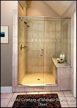 Double Shower Heads With Built In Ledge Seating With Images
