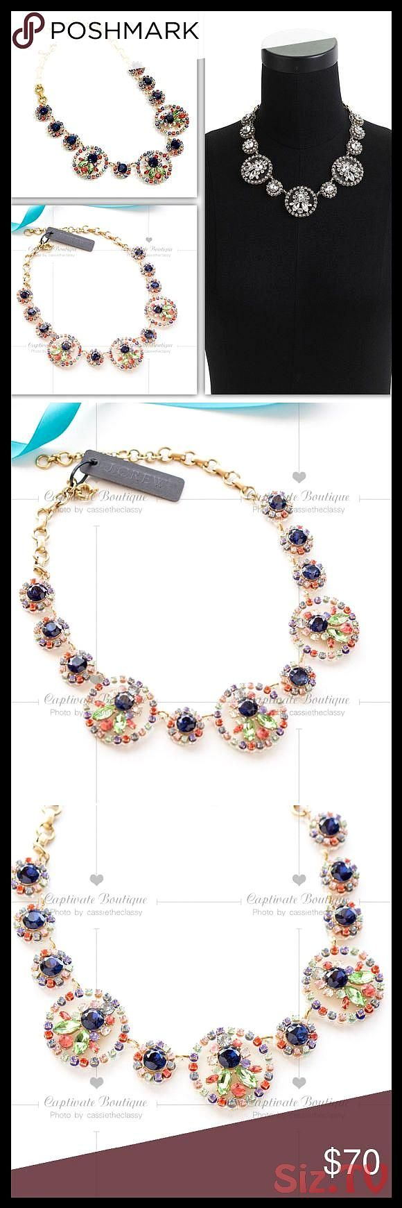 J CREW Crystal and Acetate Statement Necklace Brand new Made from translucent plastic studded with sparkly stones this necklace offers a very modeJ CREW Crystal and Aceta...