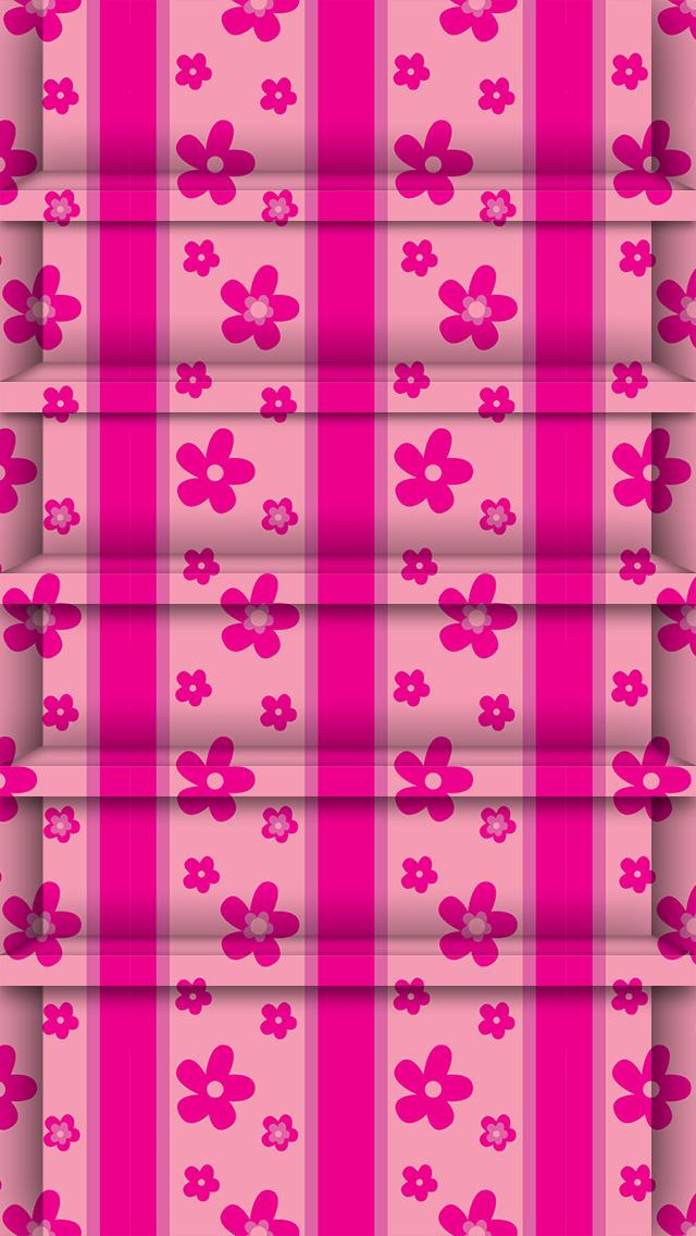 pink iphone shelf wallpaper