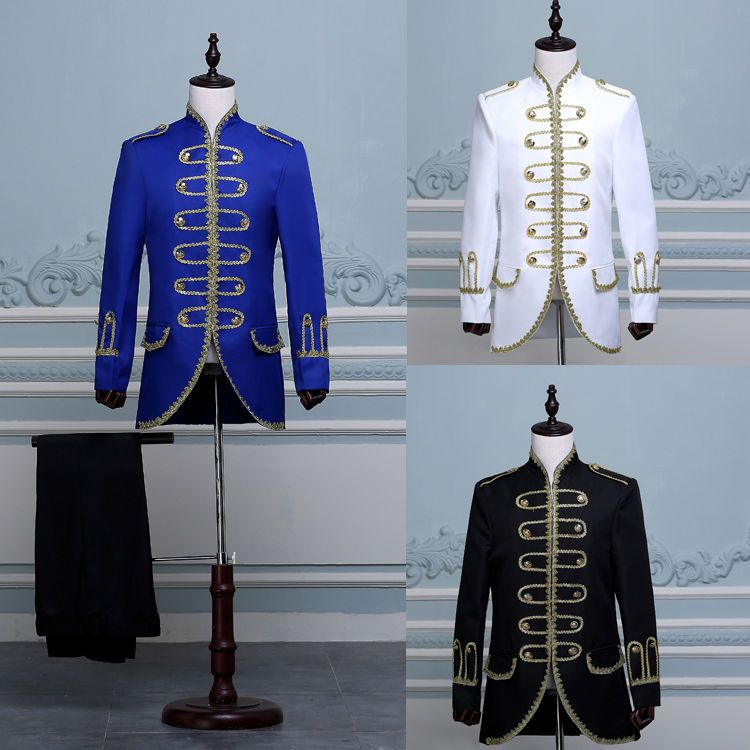 fdf8d369a King Prince Renaissance Medieval Men Cosplay Costume Uniform Coat+ ...