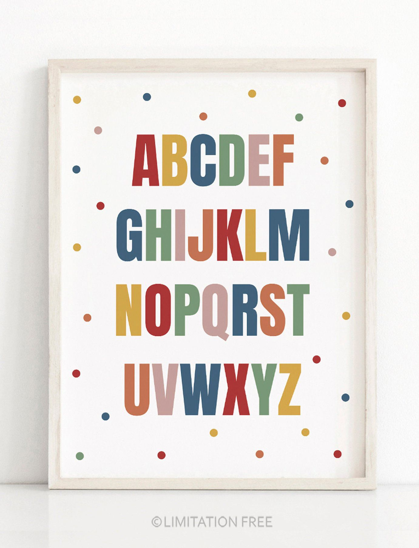 Kids Alphabet Poster Abc Nursery Art Colorful Kids Print Etsy In 2021 Alphabet Wall Art Art Wall Kids Kids Art Prints