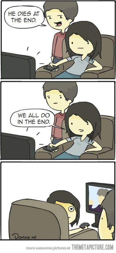 How to deal with people who spoil endings :D Muahahahahahaha