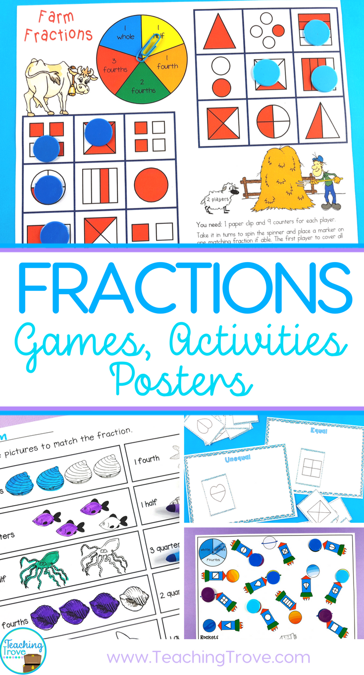 Fraction Games, Activities, Worksheets and Posters | Math ...