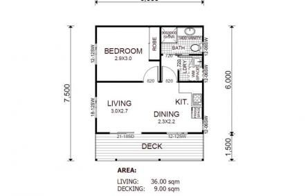 Double garage conversion to granny flat floorplans for Engineered garage plans