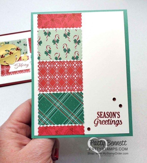quick and easy handmade christmas card idea with the