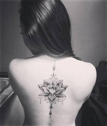 Arrow Lotus Flower Google Search Tatuaje De Mandala De Loto Tatuajes Espalda Mujer Flor De Loto Espalda