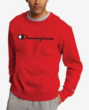 d33ab1f27693 CHAMPION MEN S POWERBLEND FLEECE LOGO SWEATSHIRT.  champion  cloth ...