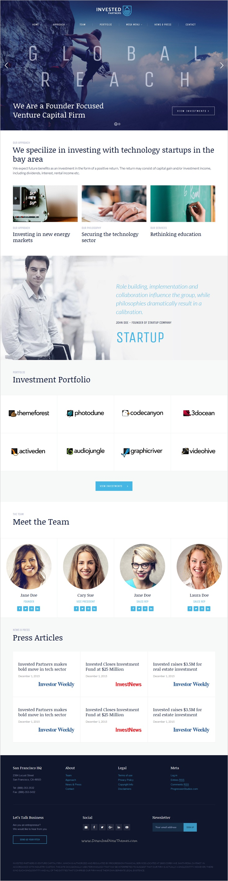 Invested Is A Wonderful HTML Template For Venture Capital And - Venture capital website template