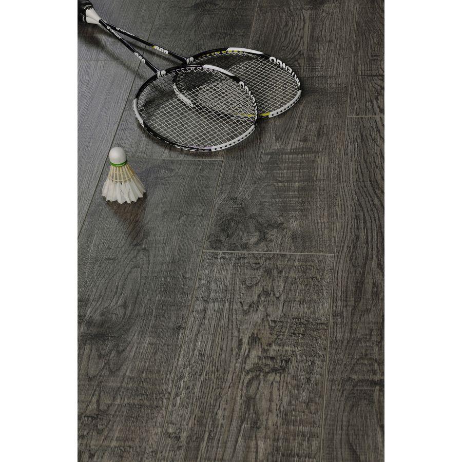 Shop Tecsun 7 75 In W X 48 In L Graphite Gray Oak Embossed