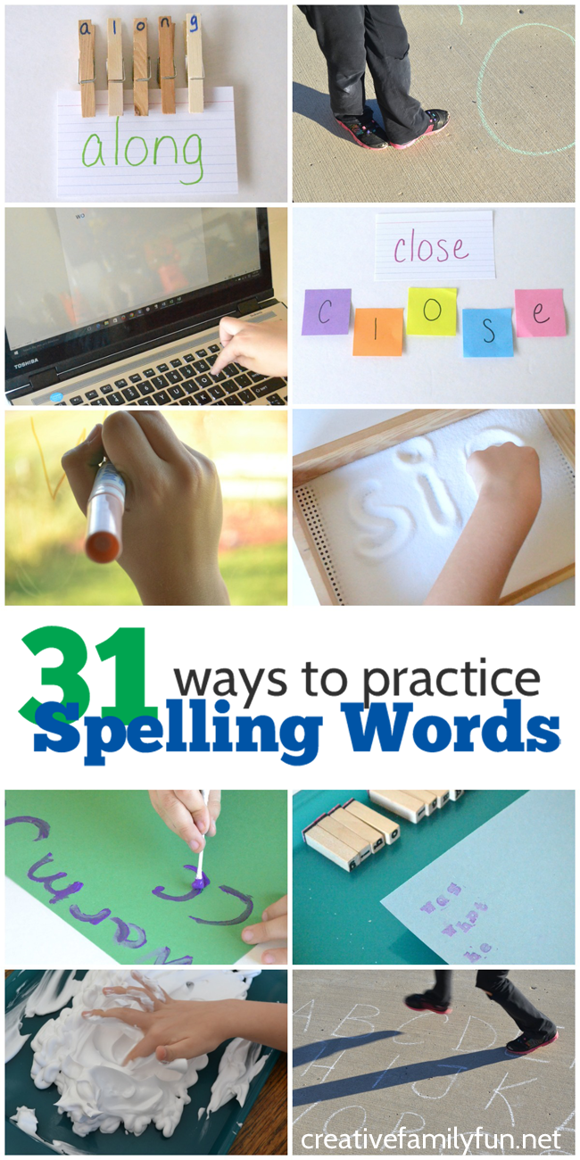 Creative Ways to Study Spelling Words - Red Apple Reading