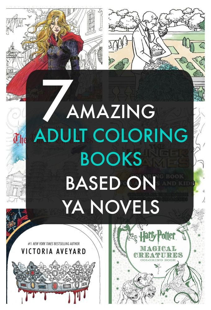 Adult Coloring Books Made From YA Yes Harry Potter The Selection And Even Throne Of Glass These Have So Many Fun Pages