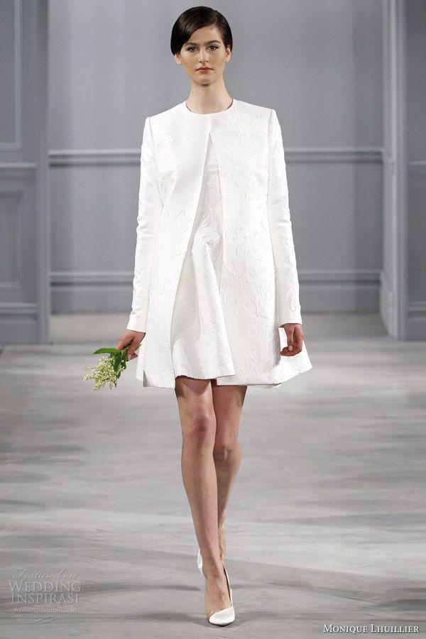 Monique Lhuillier Spring 2014 Wedding Dresses | Civil ceremony ...